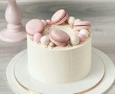 16th Birthday Cake For Girls, Modern Birthday Cakes, Simple Birthday Cake Designs, Beautiful Birthday Cakes, Easter Cake Easy, Easter Bunny Cake, Cupcakes, Cupcake Cakes, Macaroon Cake