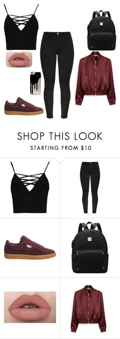 """""""she's young"""" by queenkayy15 ❤ liked on Polyvore featuring Boohoo, Puma and Mulberry"""