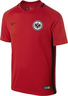 The new Eintracht Frankfurt 2016-17 away kit introduces a stunning design in red and black.