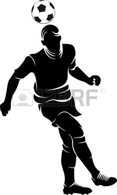 football player silhouette with ball isolated  photo