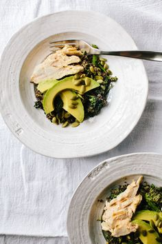 Roasted Broccoli Rabe with Lemon Vinaigrette and Grilled Chickenl