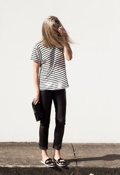 what-do-i-wear:  Oversized Coat: Topshop . Breton Striped Tee: T...