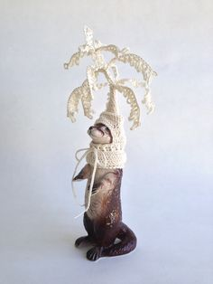 china ornament with croquet hoodie by Lynda Wilson