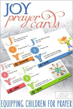 Tired of the same old rote prayers? Me too. I created these prayer cards to encourage my children to think outside the box of their normal prayers and to help them develop a greater depth in their prayer life. I pray they will bless your family, too!