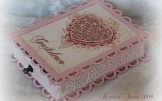 I made this box for a good friend's birthday, a while ago. I can't get enough of these Grunge Flourish Hearts  from Stempelglede. I just l...