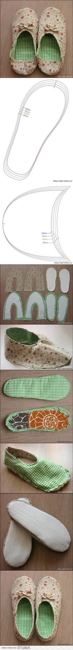DIY Womens House Slippers DIY Projects | UsefulDIY.com na Stylowi.pl