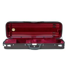 Oxford Hill Violin Case - 4/4, Burgundy Interior/Black Exterior . $139.00. Featuring an attractive semi-French, Hill style interior with ample storage. Strong 5-ply wood shell with a well-tailored, water-resistant black cordura cover. Interior is of soft silk velvet in Royal Blue or Burgundy. 6 lbs.   Exteri