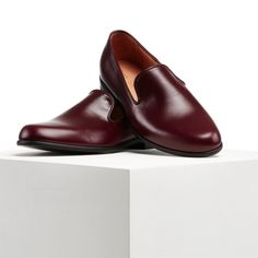 8f14af485a5 Wine Leather - Duke & Dexter - Men's Luxury Loafers - Men's Slippers  Loafers Outfit,