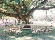 Romantic ceremony site at this Hawaiian ranch wedding