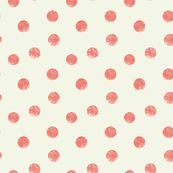 coral dots fabric