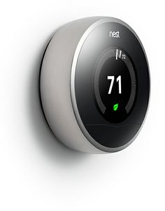 Nest Thermostat:  The Nest Learning Thermostat has given the lowly programmable thermostat in your home a high-tech makeover. This device sells for $200 to $250 and is like an Apple computer to control heating and cooling in your home. It uses artificial intelligence to learn your patterns and auto-adjust the thermostat when nobody is home.