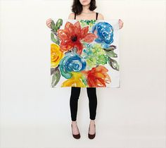 A personal favorite from my Etsy shop https://www.etsy.com/listing/276503216/silk-square-scarf-with-watercolor-floral