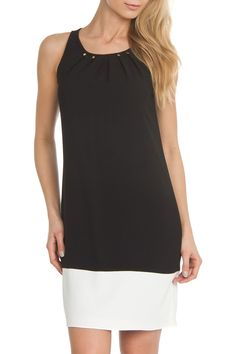Ivanka Trump Sheath Dress in Black and Ivory - Beyond the Rack