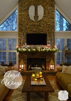New Living Room Windows Vaulted 57 Ideas Living Room Windows, New Living Room, Living Room Decor, Family Room Design, Interior Design Living Room, Family Rooms, Fireplace Windows, Fireplace Brick, Fireplace Mantels