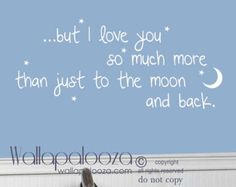 Moon Wall Decal & Star Pack for Baby Nursery Kids by graphicspaces