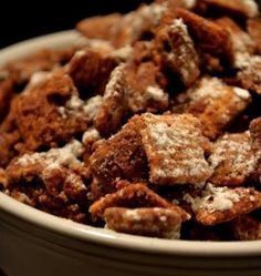 Puppy Chow Chex Miix - sweet and crunchy and satisfying.