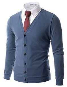 Doublju Mens Basic Button Down Soft V-Neck Cardigan DARKB... https://www.amazon.com/dp/B00VPZV3RS/ref=cm_sw_r_pi_dp_x_Kv2bybRE2R78D