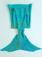 Very Comfy Knitted Cotton Mermaid Blanket. $39.99. www.pro-designs.biz