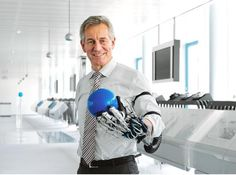 Festo's prototype robo-hand can operate machine manipulators from afar, and could help stroke victims regain use of their hands.