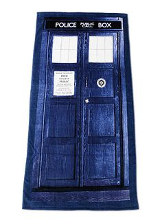 Doctor Who TARDIS Beach Towle - Officially Licensed