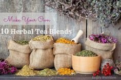 Doesn't a nice cup of tea sound wonderful? Growing herbs for homemade herbal tea blends can you save you money and provide you with long lasting herbs to use for culinary needs, natural medicine or just to sit down and enjoy. Here are 10 herbal tea blends that my family loves!