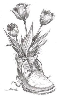 Flower Drawing Flower Sketch Drawings Ideas On Pretty Jpg . flower drawing Flower sketch drawings ideas on pretty jpg sketch drawing ideas - Sketch Drawing Pencil Drawings Of Flowers, Pencil Sketch Drawing, Pencil Shading, Flower Sketches, Pencil Art Drawings, Art Drawings Sketches, Cool Drawings, Drawing Flowers, Pencil Drawing Inspiration