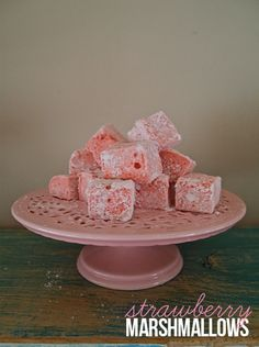 A sweet recipe for pink Strawberry Marshmallows