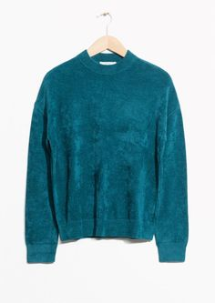 & Other Stories image 2 of Chenille Sweater in Turquoise