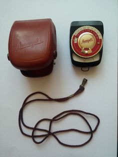 Vintage Soviet USSR Russian Optical FOTO Exposure Meter + Case Leather RARE OLD #USSR