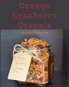 Orange Cranberry Granola Recipe