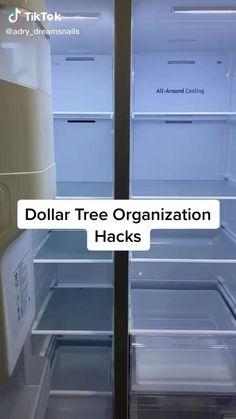 How to@diy home organize your fridge using items from dollar tree. Refrigerator Organization, Kitchen Organization Pantry, Organized Fridge, Bathroom Organization, How To Organize Fridge, Organized Home, Kitchen Storage Hacks, Fridge Storage, Camper Storage