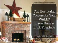 Latest Photo yellow Brick Fireplace Ideas The best paint colours for your walls if you have any color of brick fireplace (red, brown, yellow, Brick Fireplace Decor, Red Brick Fireplaces, Brick Fireplace Makeover, Living Room With Fireplace, Fireplace Ideas, Fireplace Update, Fireplace Decorations, Farmhouse Fireplace, Fireplace Design