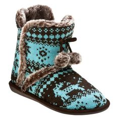 Womens Caroline Bootie Slipper - Brown/Turquoise from Target