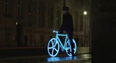Night Bike from the latest Blackberry Commercial. I am too busy lusting this to want the phone.
