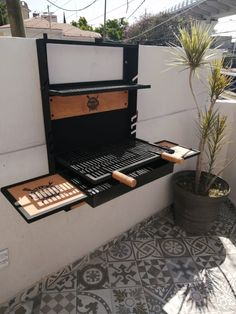Outdoor Grill Island, Outdoor Barbeque, Barbecue Design, Grill Design, Metal Furniture, Furniture Design, Kitchen Furniture, Bbq Area, Outdoor Kitchen Design