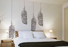 Forest Feathers Reusable decorative Scandinavian by StenCilit