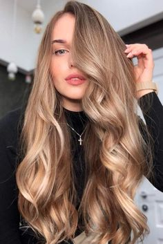 21 Breathtaking Shades Of Dirty Blonde Hair For Any Season Sandy Long . - 21 Breathtaking Shades Of Dirty Blonde Hair For Any Season Sandy Long Locks # - Hair Inspo, Hair Inspiration, Curly Hair Styles, Brown Blonde Hair, Blonde Honey, Honey Hair, Olive Skin Blonde Hair, Ashy Hair, Blonde Hair Dark Roots Balayage