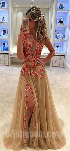 Best Sale Side Split Stunning Evening Inexpensive Long Prom Dresses, WG1082 #promdress #promdresses #longpromdress #longpromdresses #dress #dresses