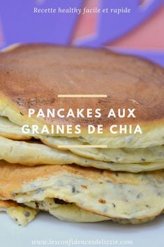 [RECETTE HEALTHY] My delicious pancakes with chia seeds - For a good and quick breakfast, opt for the chia seed pancakes - Tasty Pancakes, Breakfast Pancakes, Breakfast On The Go, Breakfast Recipes, Breakfast Healthy, German Pancakes, Quinoa Breakfast, Brunch, Good Healthy Snacks