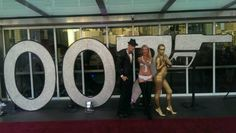 James Bond 007 themed bodypainting for agency Christmas party at Darling Harbour, Sydney, Australia