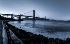 Monochrome Gate Bridge