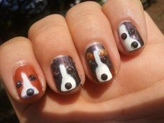 25 Unique Nail Designs and Nail Art Ideas - Page 2 of 5 - Nail Designs For You Nail Art Designs, Fingernail Designs, Creative Nail Designs, Creative Nails, Nails Design, Dog Nail Art, Animal Nail Art, Dog Nails, Fancy Nails