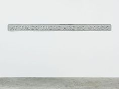 »at times there are no words« by darren almond