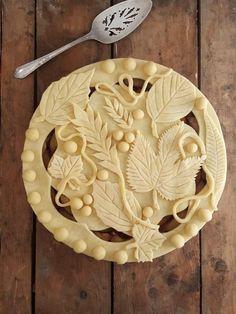 Fancy top crust for any pie Pie Dessert, Dessert Recipes, Cake Recipes, Beautiful Pie Crusts, Cookies Receta, Pie Crust Designs, Pie Decoration, Pies Art, Cupcakes Decorados