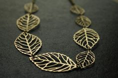 Leaf Silhouette Necklace Large and Small Multiple by FreshyFig, $38.00