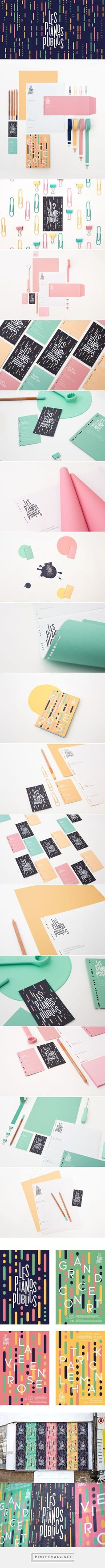 Les Pianos Publics Branding on Behance | Fivestar Branding. JUST GORGEOUS! | Twitter, Instagram & Pinterest: @TrustVital