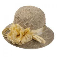 Chic Handmade Yarn Flower Knitted Rhombus Bucket Hat For Women