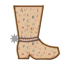 Cowboy Boot Applique Machine Embroidery by RivermillEmbroidery, $2.95