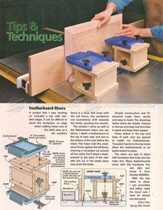 Featherboard Risers - Cabinet Door Construction Table Saw