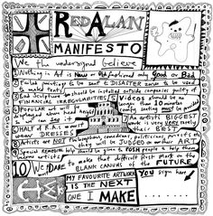 Grayson Perry RA's Red Alan Manifesto - when they did it, it was available from the wesbite!